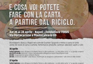 """Riciclo Aperto"" (Open Recycling) arrives in Naples"