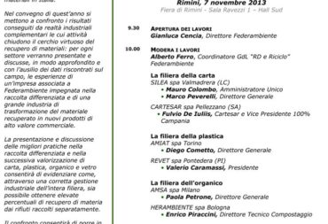 Cartesar takes part in the Federambiente Conference