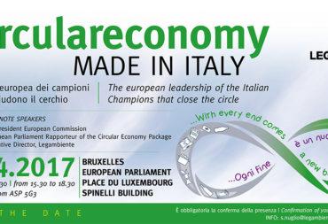 Cartesar tra i campioni italiani dell'economia circolare a Bruxelles