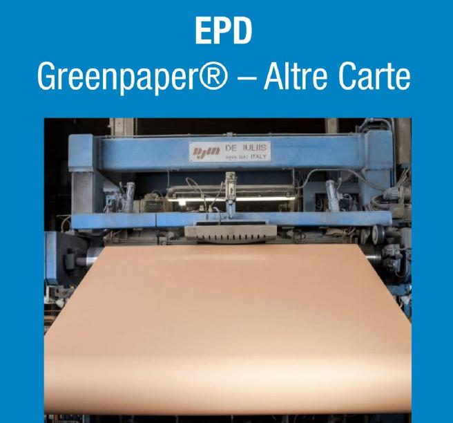 Pubblicata la prima EPD (Dichiarazione Ambientale di Prodotto) di Cartesar SPA