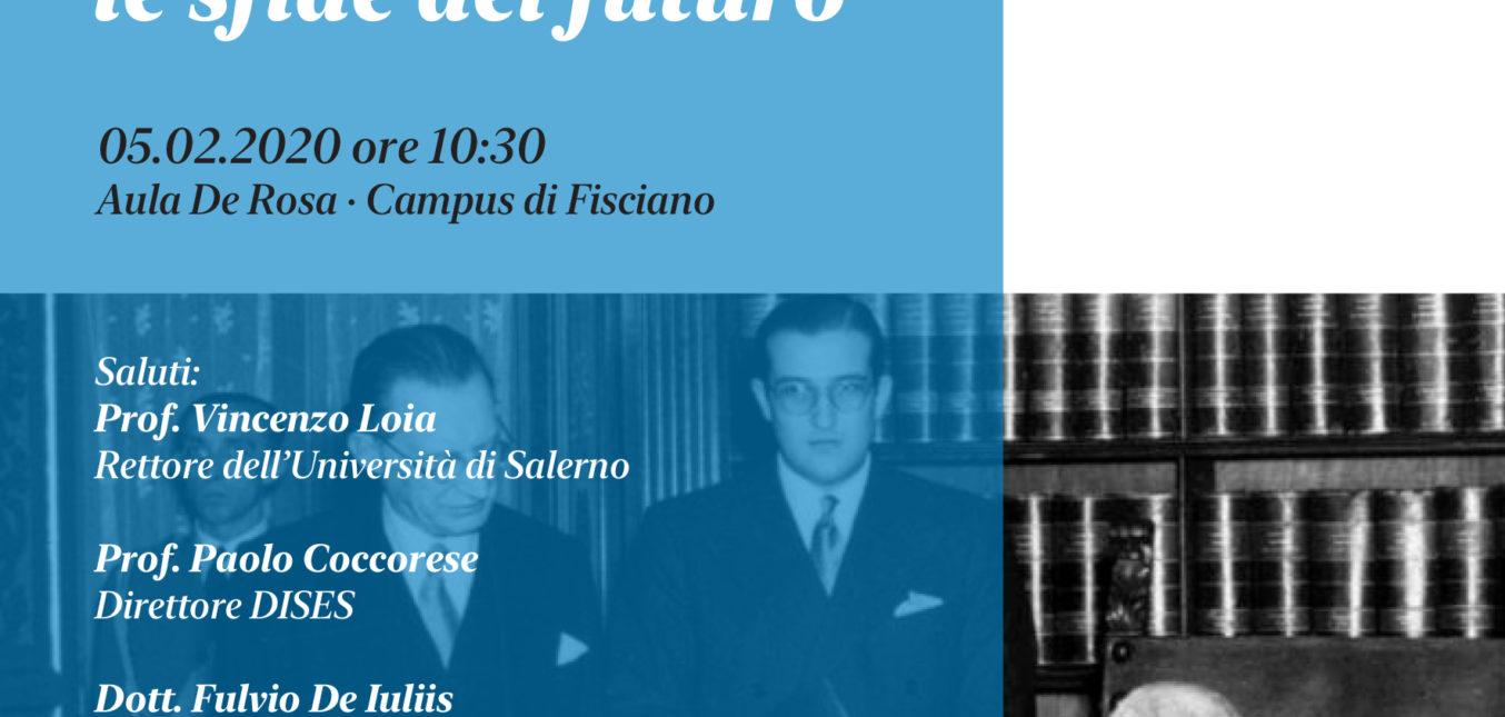 La Costituzione e le sfide del futuro   Presentation of the volume in recycled Cartesar paper.
