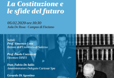 La Costituzione e le sfide del futuro | Presentation of the volume in recycled Cartesar paper.